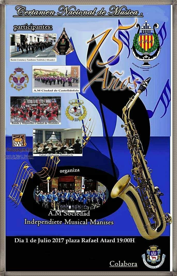 CERTAMEN NACIONAL DE MUSICA 15 AÑOS S.I.M. (MANISES-VALENCIA)