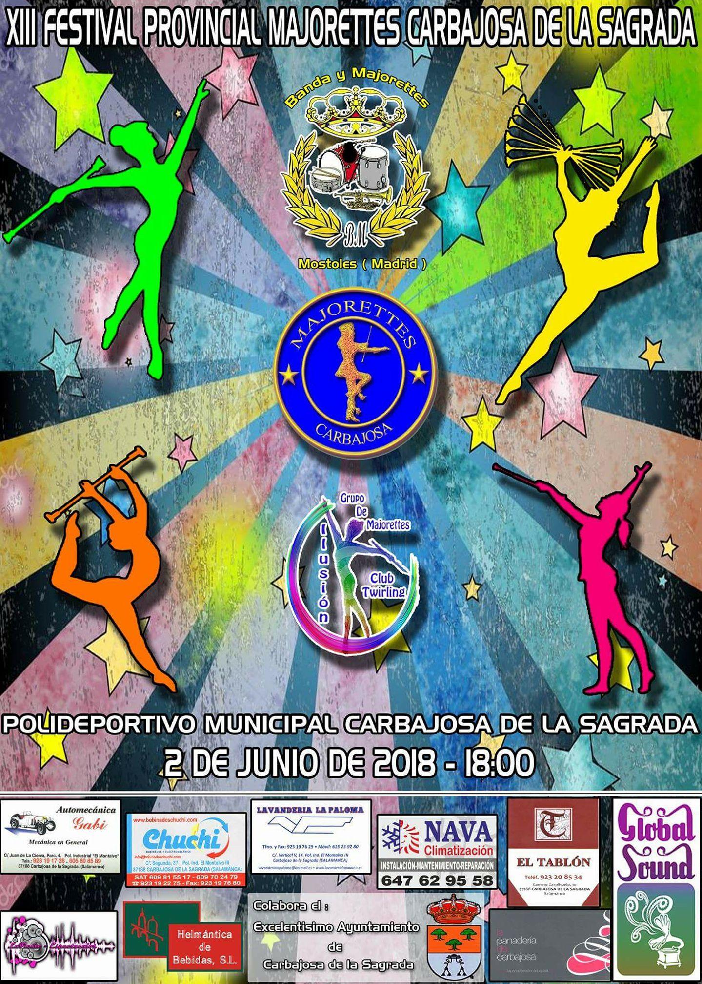 XIII FESTIVAL PROVINCIAL MAJORETTES CARBAJOSA DE LA SAGRADA