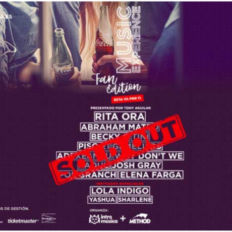 ACTUACIÓN EN COCA COLA MUSIC EXPERIENCE CON LOLA INDIGO 2018